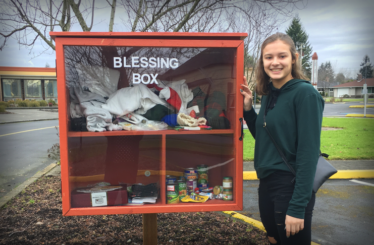 Puyallup UMC's Blessing Box!