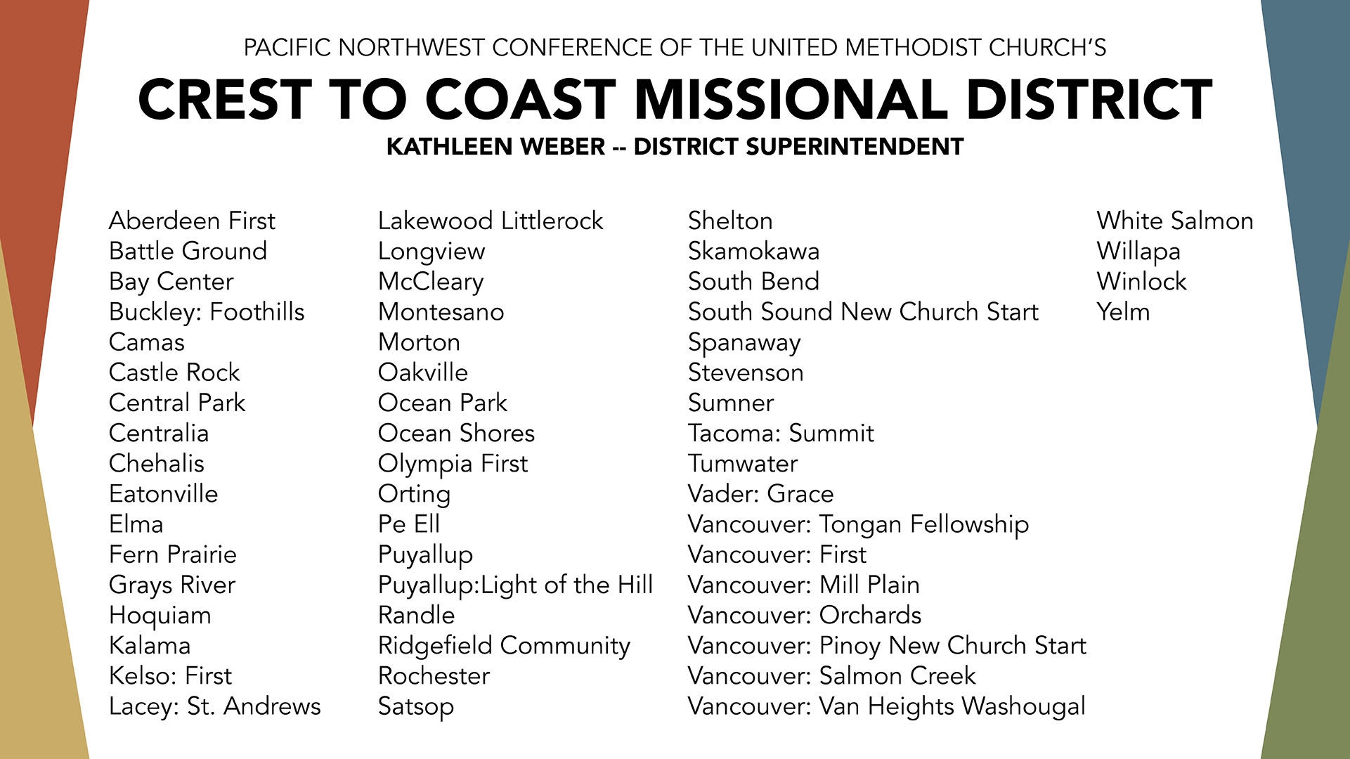 Crest to Coast Missional District » The Pacific Northwest Conference