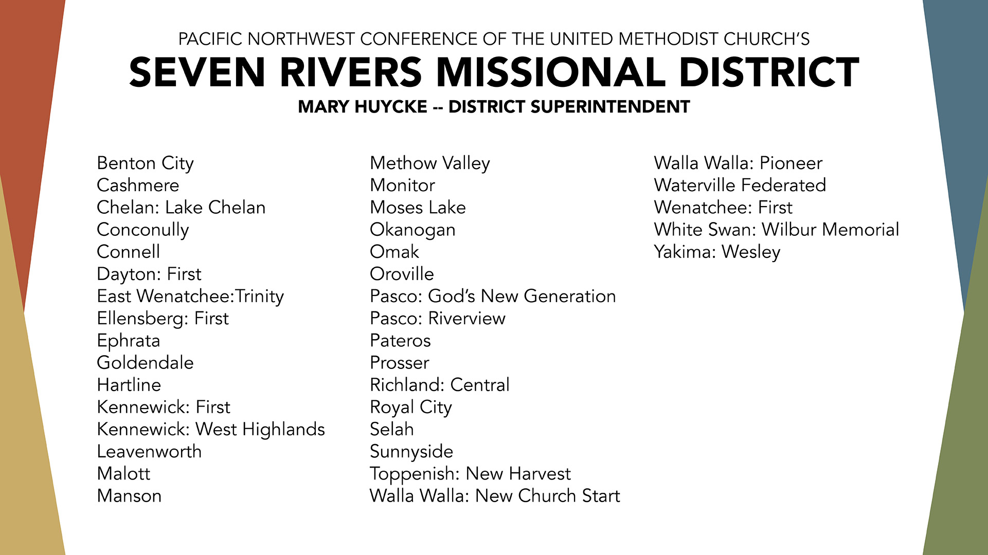 Seven Rivers Missional District » The Pacific Northwest Conference